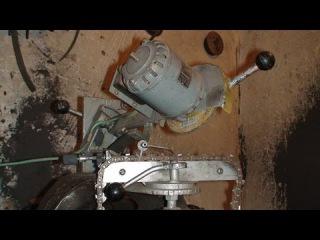 Самодельный станок для заточки пильных цепей.