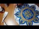 """Роспись тарелки от Яны Шапран. Декоративная тарелка на стену """"Великолепный век"""""""