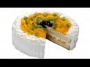 Торт с фруктами Пошаговый рецепт приготовления нежного торта со взбитыми сливками