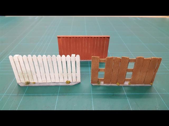 Lets Make - Wooden Yard Fences (Modern Urban Series)