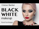 BLACKWHITE OMBRÉ-ARABIC MAKEUP BY EMESE BACKAI MAKEUP TRAINER