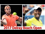 Jack Sock vs Donald Young 2017 Delray Beach Open Semi Final Highlights by ACE
