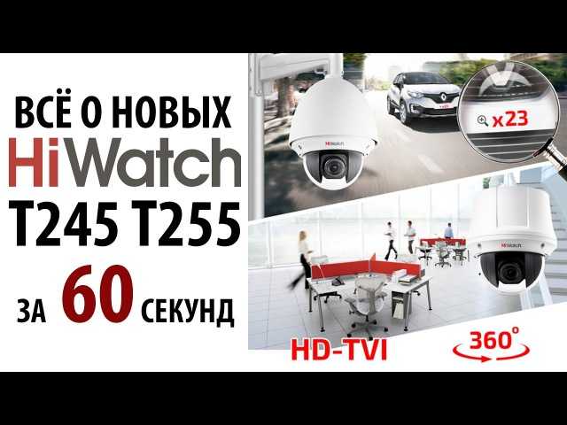 TVI SpeedDome камера Hiwatch DS-T245 T255 FullHD разрешение