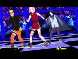 MMD Team 7 - Naruto-Sakura-Sasuke (Наруто-Саске-Сакура) The Last (New) - Get Lucky