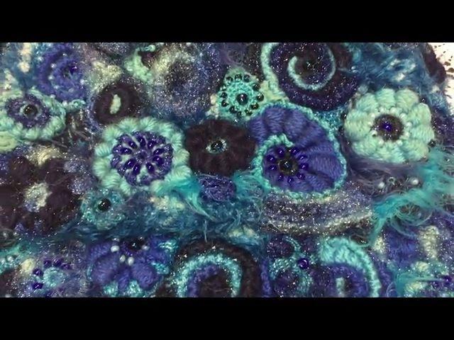 ФРИФОРМ ТРЕХЦВЕТНАЯ РАКУШКА мастерская Ирины Кузнецовой FREEFORM KNITTING Crochet Freeform