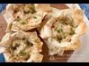 Жульен с курицей в тесте фило Рецепт приготовления Julienne with chicken in Filo dough Recipe