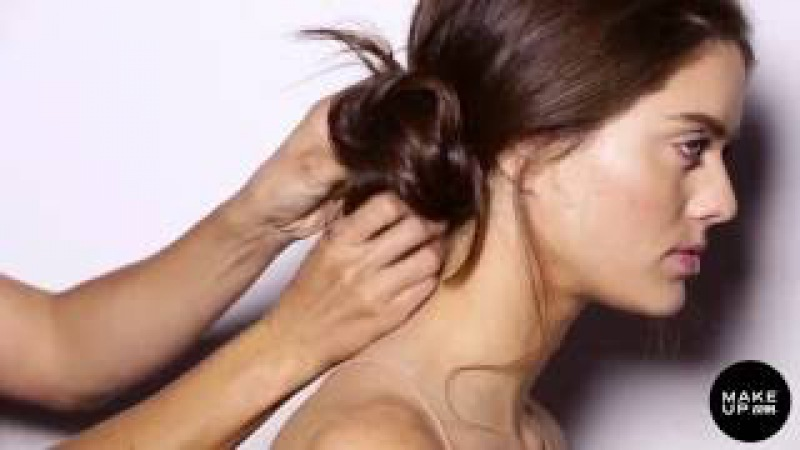 The Messy Chignon in 4 Simple Steps