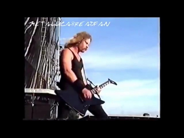 James Hetfield destroys Kirk Hammett's solo LIVE Whiplash