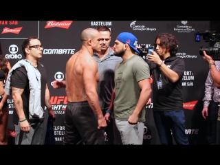 Взвешивание и дуэли взглядов перед UFC Fight Night 106