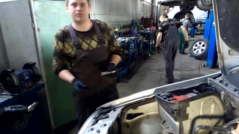 Проект: Попадос (часть 2) Ремонт мерседеса R350 меняем вторую стойку
