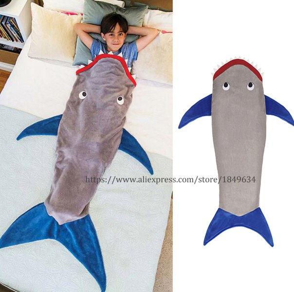 Одеяло акула  https://ru.aliexpress.com/store/product/Shark-Mermaid-Blanket-Warm-Flannel-Mermaid-Tail-Blanket-Air-Conditioning-Sofa-cobertor-Quilt-Rug-Wrap-Soft/1849634_32756360707.html?detailNewVersion=&categoryId=40602