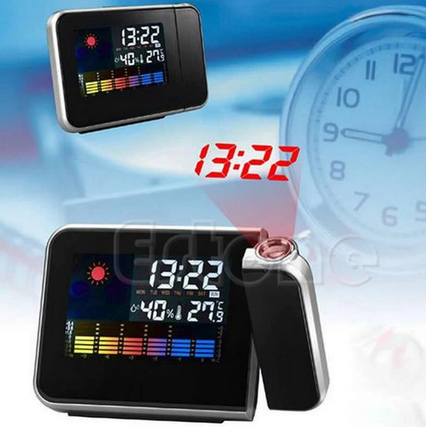 Часы с проектором!  https://ru.aliexpress.com/store/product/A81-2016-newest-1PC-Digital-LCD-LED-Projector-Alarm-Clock-Projecting-Weather-Station-Thermometer-free/1052315_32604324657.html?detailNewVersion=&categoryId=200001459
