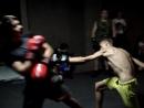 Тренировка в Спортивном клубе ЗЕВС часть 5. Отработка ударов и спарринг
