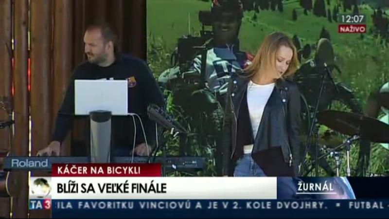 Kristína - Jabĺčko, 07.08.2016, Štrbské pleso (Káčer na bicykli)