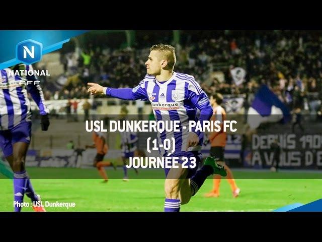 J23 : USL Dunkerque - Paris FC (1-0) le résumé