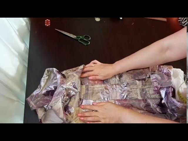 Как сшить нарядную блузку из старого платья .УВЕЛИЧИВАЕМ с 46 на 50 размер. 1-я ЧАСТЬ.