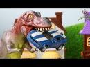 Мультик про машинки. Динозавр, трактор, монстр-траки, пожарная. МанкиМульт 5