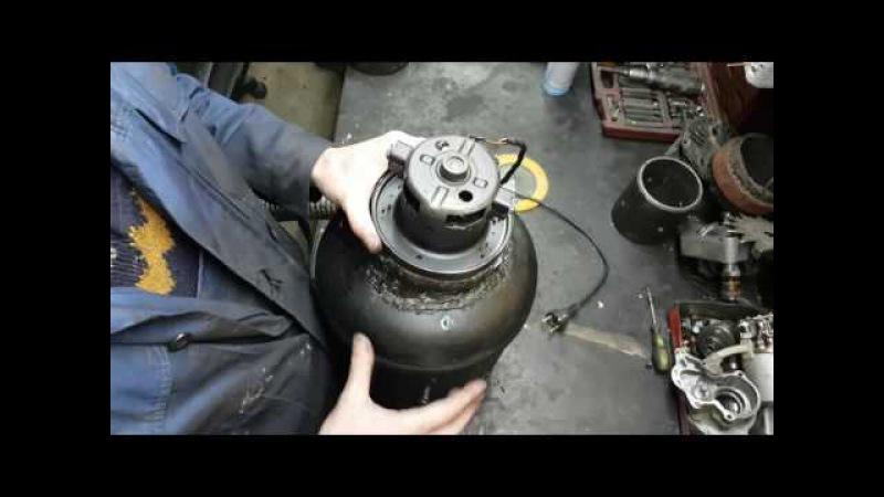 Как сделать супер мощный пылесос за час из баллона от фреона.