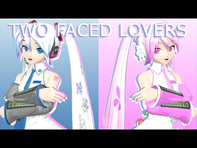 [MMD] DTPDA Snow Miku 2010 Sakura Miku ~Two Faced Lovers