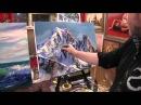 Игорь Сахаров, научиться рисовать маслом горы, горный пейзаж