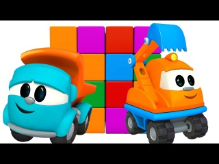 Leo the truck 🚚 and excavator Max. Car cartoon and videos for kids. Excavator Skoop #FirstToons