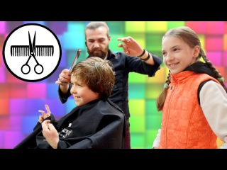 Видео про детей. #Влог: Игробой Адриан и лучшая подружка Света! Адриан постригся! ...