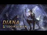 Diana, Scorn of the Moon Login Screen - League of Legends