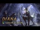 Diana Scorn of the Moon Login Screen League of Legends