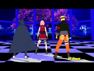 MMD Team 7 - Naruto-Sakura-Sasuke The Last