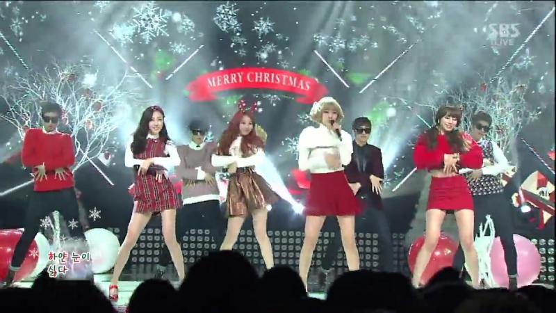 βEṦTie - Zzаng Christmаs (Feat. Yoo Sae Yoon) [SβS Inkigąyo 2013.12.22]