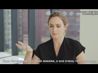 Emily Blunt Talks The Girl on The Train  InStyle [русские субтитры]