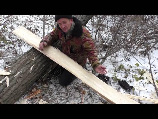 Охотничьи лыжи Ч 1 вырубаем заготовки