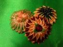 Цветок канзаши. Зефирка,варианты.DIY.Flower kanzash,new versio 8n