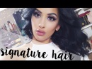 MY SIGNATURE HAIRSTYLE | Center Part Loose Waves | Blow Dry Tutorial | irenesarah