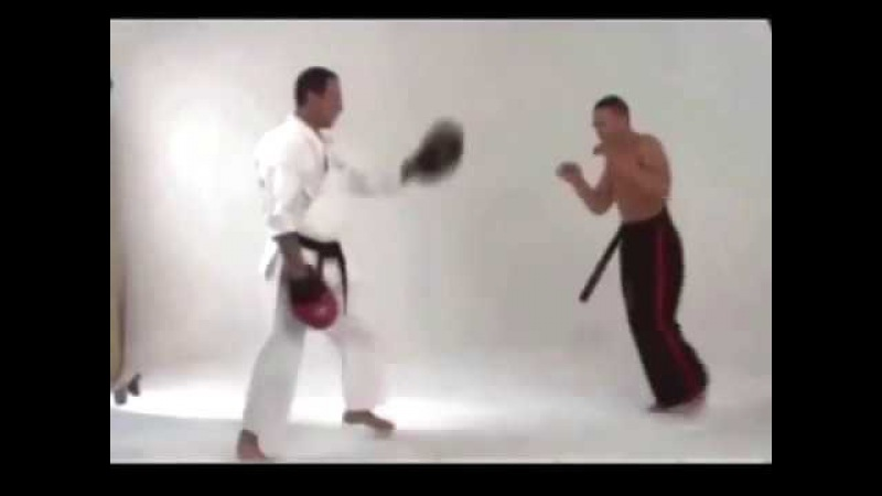 Jean Claude Van Damme - real kicks and drill demonstration