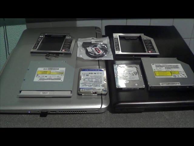 жесткий диск вместо DVD привода в ноутбуке 9 5мм и 12 7мм HDD вместо DVD Rom