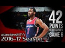 John Wall Full Highlights 2017 ECR1 Game 6 at Hawks - 42 Pts, 8 Ast, 2 Blks, 19 Pts in 4th!