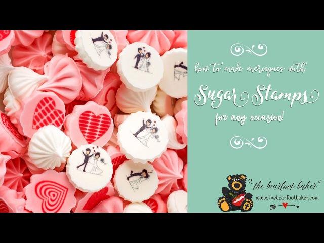 (vk.com/lakomkavk) How to Make Meringues with Sugar Stamps | The Bearfoot Baker