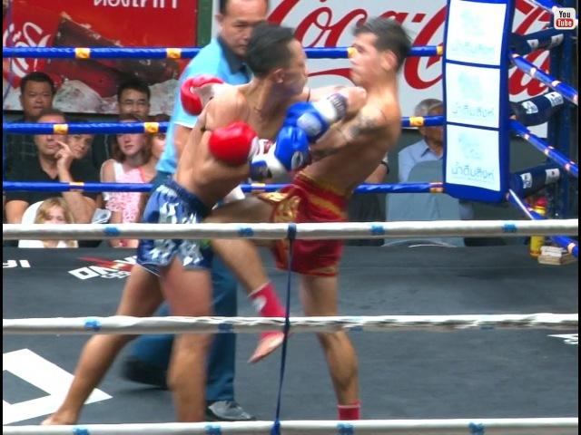 Muay Thai - Jomhod vs Yothin (จอมโหด vs โยธิน ), Rajadamnern Stadium, Bangkok, 8.8.16