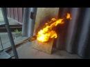 ОСПOSB - Ориентированно-Стружечная Плита. Тест на пожаробезопасность