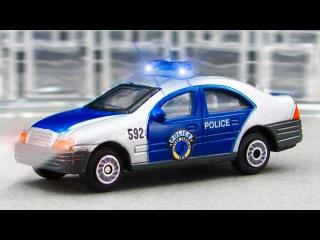 Akıllı arabalar - Arabalar çizgi filmi - Polis Arabası ve Yarış Arabaları - Çizgi film türkçe