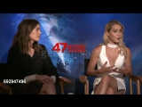 INTERVIEW - Mandy Moore and Claire Holt at 47 Meters Down Junket