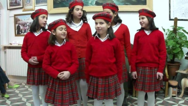 Молитва Отче нашна арамейском и арабском языках. Маалюль, Сирия.