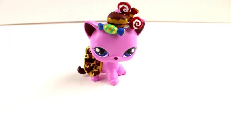ЛПС ООАК перекрашиваем стоячку Кошечка Королева Сладостей игрушки для девочек