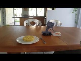 3D printed pass the butter robot