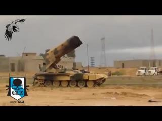 Работа ТОС Буратино в Сирии