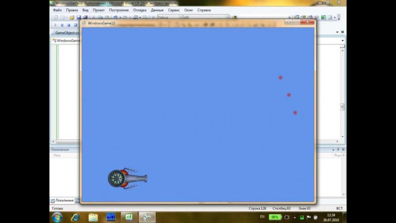 Разработка простой игры на xna game studio за 30 минут.
