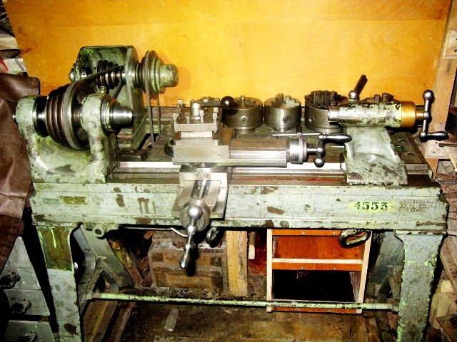 Старинный немецкий токарный станок