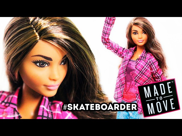 Barbie | MADE to MOVE | SKATEBOARDER | Барби Скейтбордистка | Barbie™. Photo-Review | рус. eng.