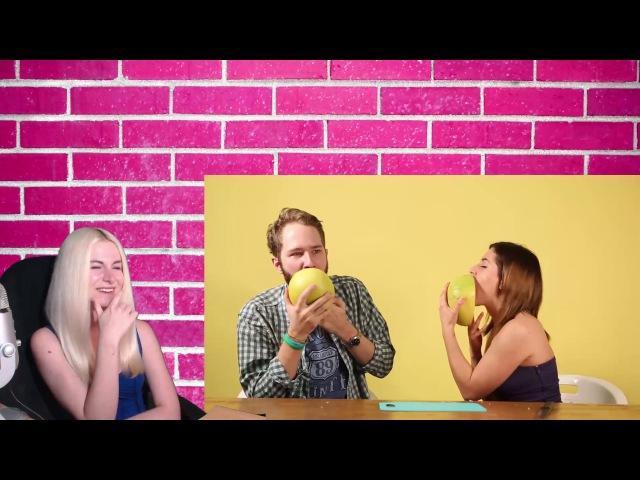 РЕАКЦИЯ Порноактрисы учат парней делать кунилингус [Popcorn Studio]